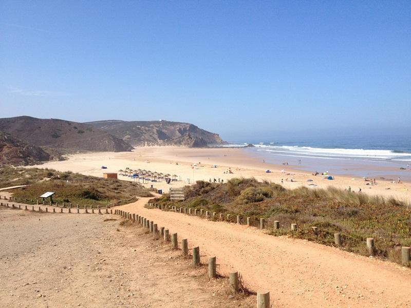 Surfen Amado beach foto 1