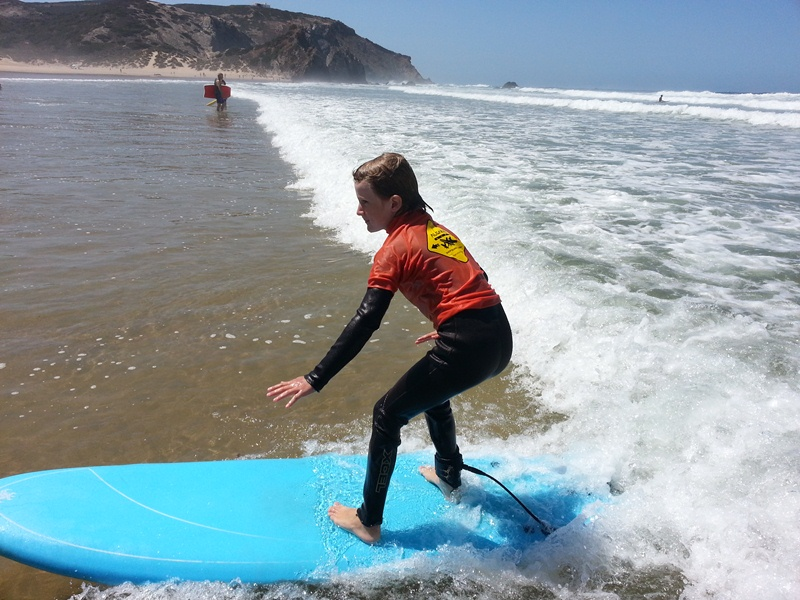 Surfen Amado beach foto 9